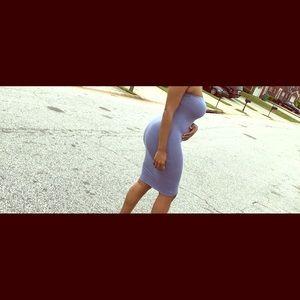 Blue tube top dress
